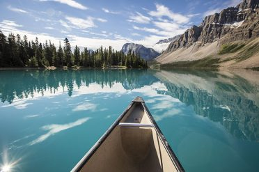 Canoeing Bow Lake