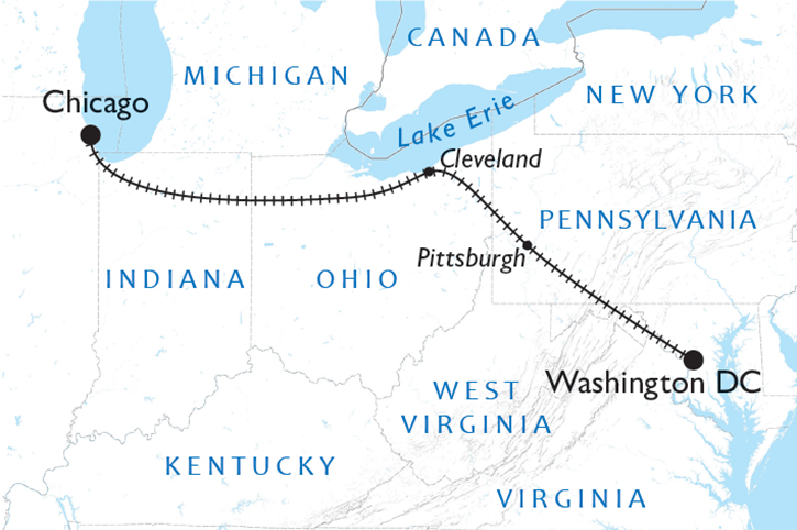 Capitol Limited Map