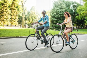 Cycling in Central Park, New York
