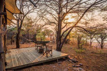 Changa Safari Camp Deluxe Tent Deck