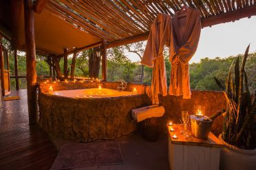 Chapungu Tented Camp Private Bathtub
