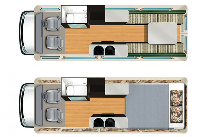 Cheapa 2 Berth Camper Floor Plan