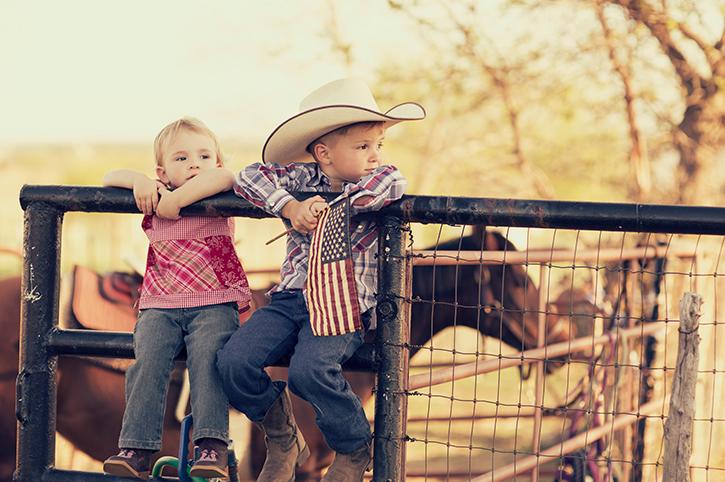 Children in Texas, America