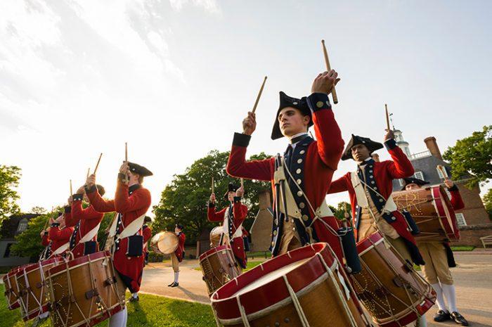 Drummers at Colonial Williamsburg, Virginia
