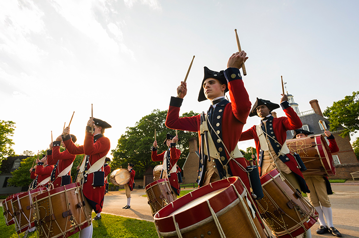 Drummers at Colonial Williamsburg, Virginia