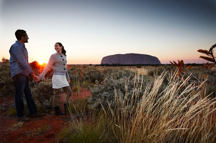 Couple at Ayers Rock