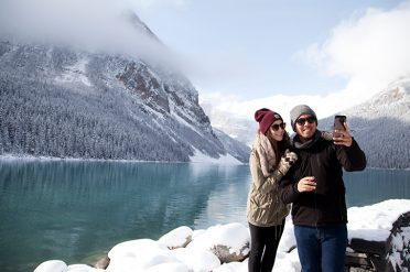 Couple, Lake Louise