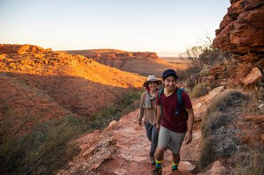 Couple hiking in Kings Canyon