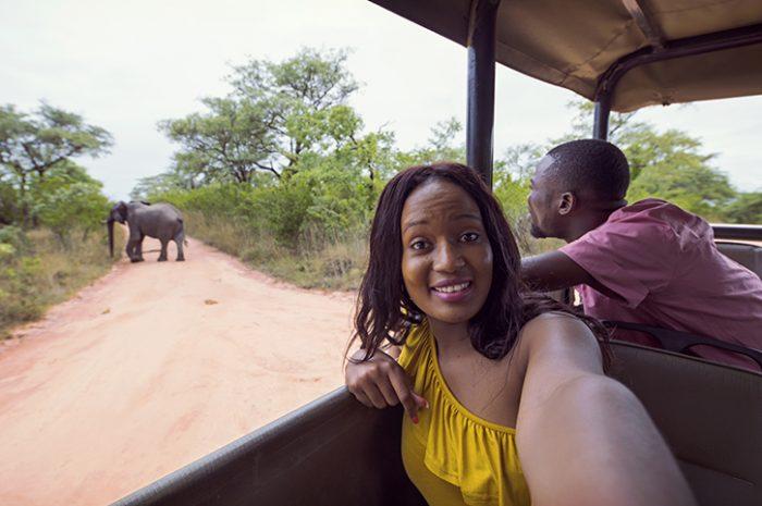 Couple on Safari in Kruger National Park