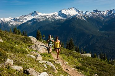Couple Alpine Hiking Whistler