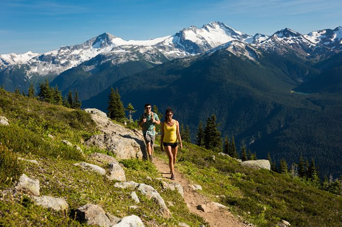 Couple Alpine Hiking Whistler
