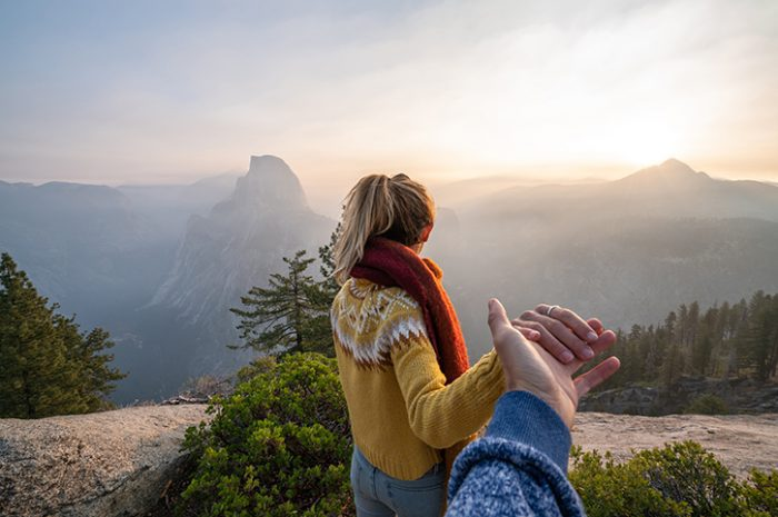 Couple in Yosemite National Park