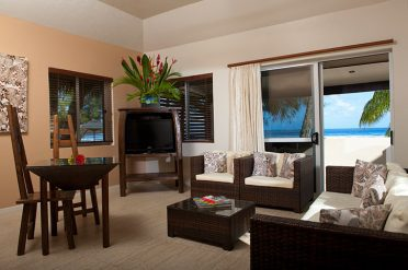 Crown Beach Resort Living Area
