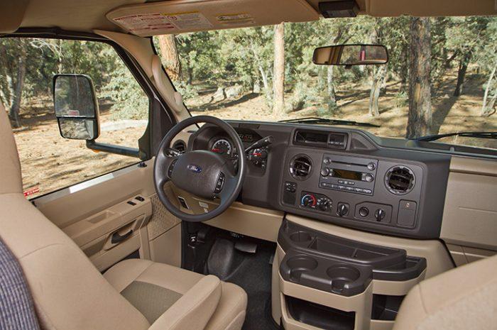 Cruise America C25 Interior Drivers Cab