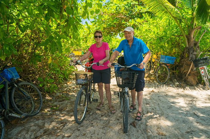 Cycling Through The Forest, Seychelles