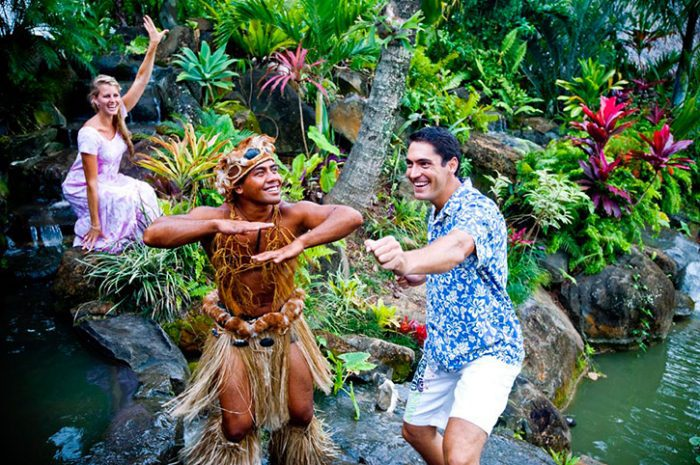 Dancing With Cook Island Locals