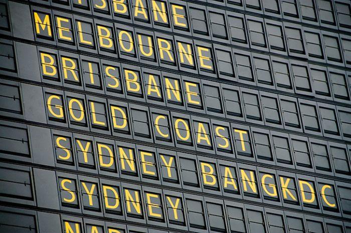 Australia Departure Board