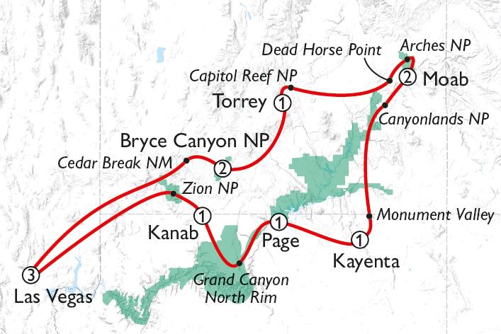 Discover Utah Self Drive Map