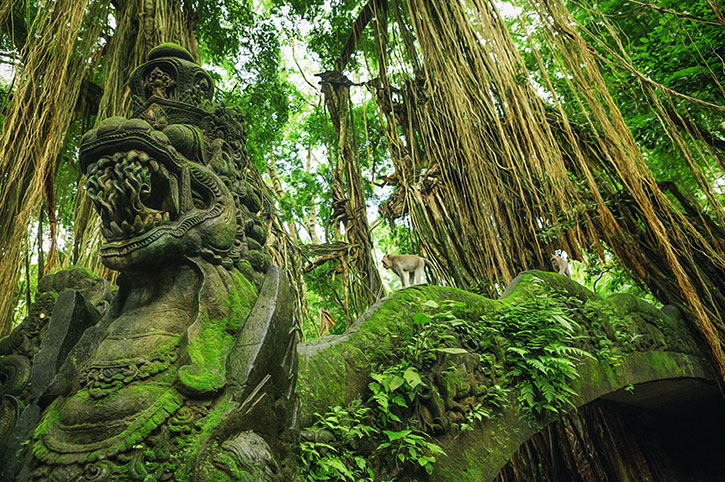 Dragon Bridge, Monkey Forest, Ubud, Bali