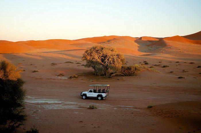 Driving Through Desert, Namibia