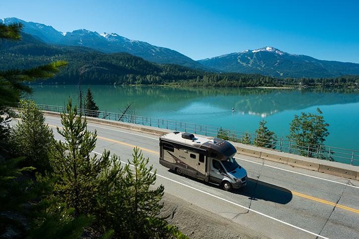 Driving Green Lake, Canada