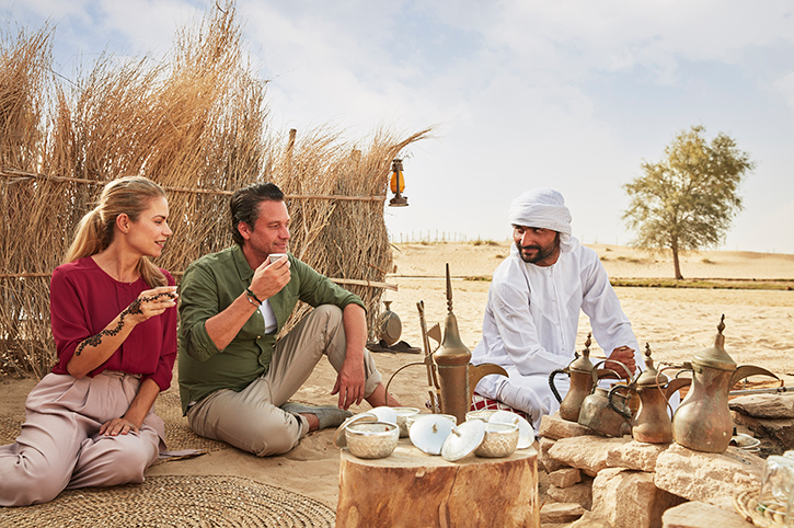 Coffee in the desert, Dubai