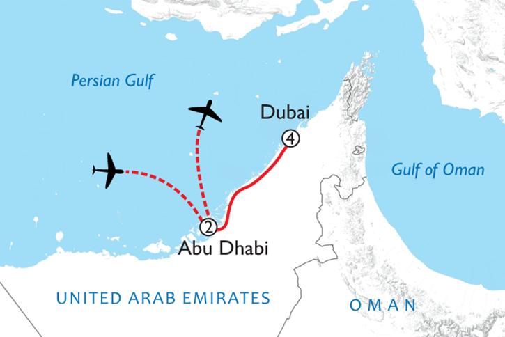 Dubai & Abu Dhabi Map