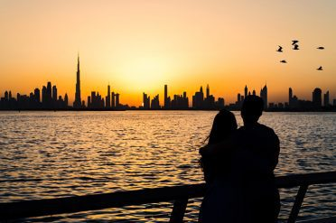 Dubai Sunset Couple UAE