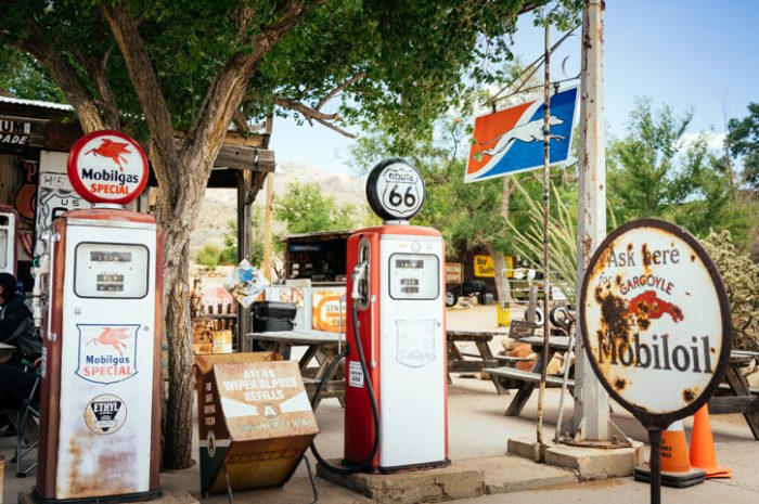Petrol station on Route 66