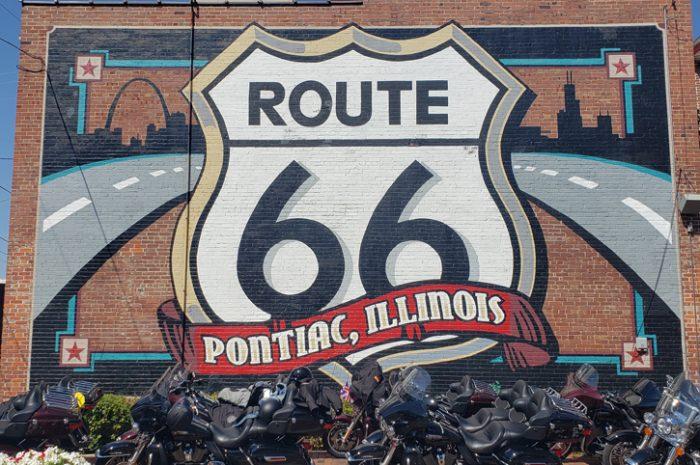 Route 66 mural, Pontiac