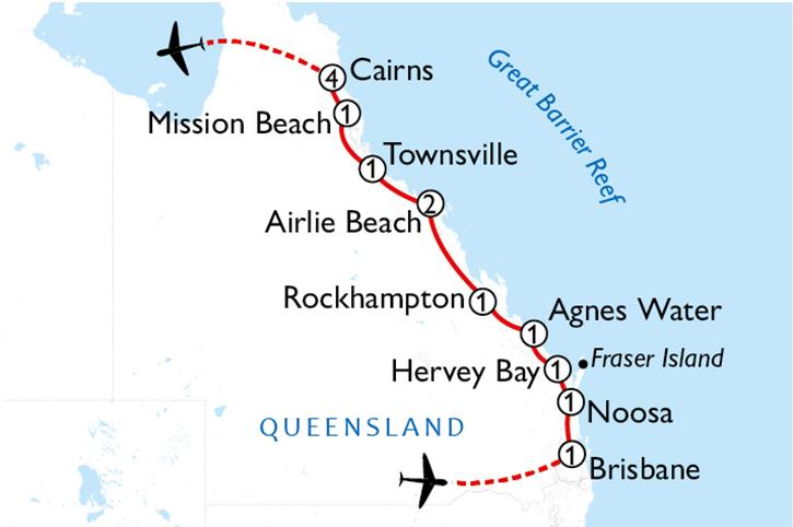 East Coast Discovery Map