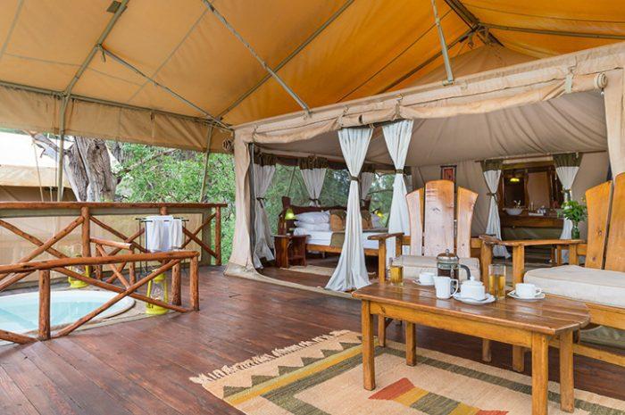 Elephant Bedroom tent deck