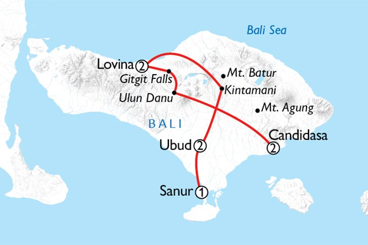 Essence Of Bali Map