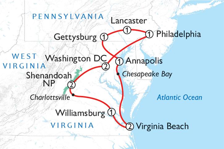 Explore the Capital Region Map