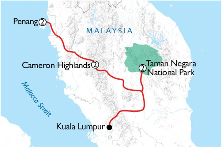 Exploring Malaysia Map