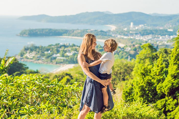 Family at Karon Beach Viewpoint