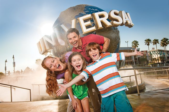 Family at Universal Studios