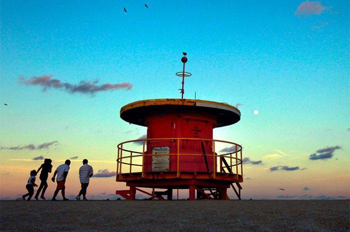 Family on Beach in Miami