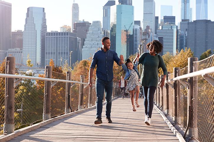 Family in New York, America