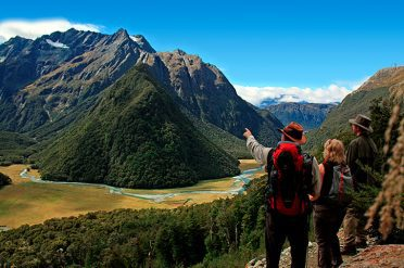 Famous Routeburn Track Tourists