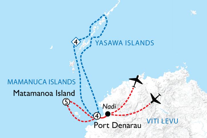 Fiji Highlights Map