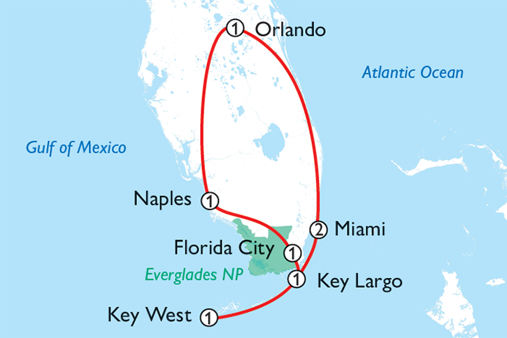 Florida Fly Ride Map