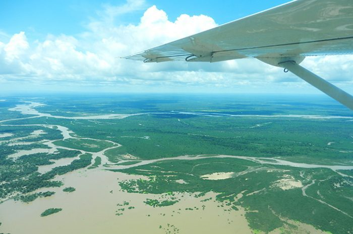 Flying to the Selous