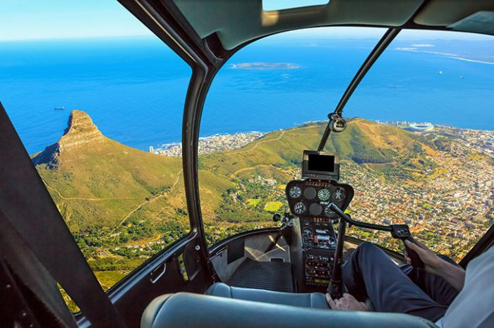 Flying Over Cape Town, South Africa