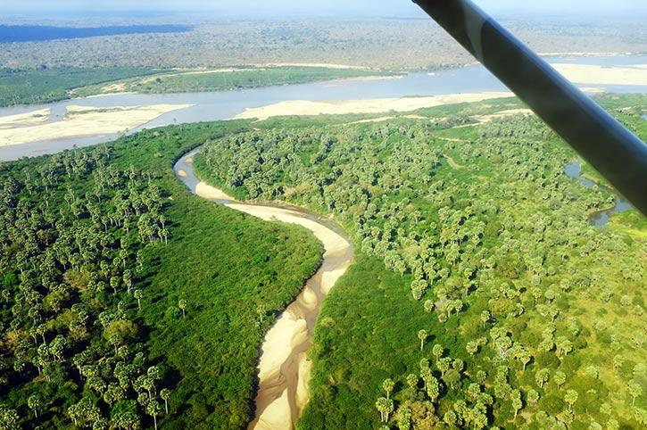 Flying Over Rufiji River, Selous