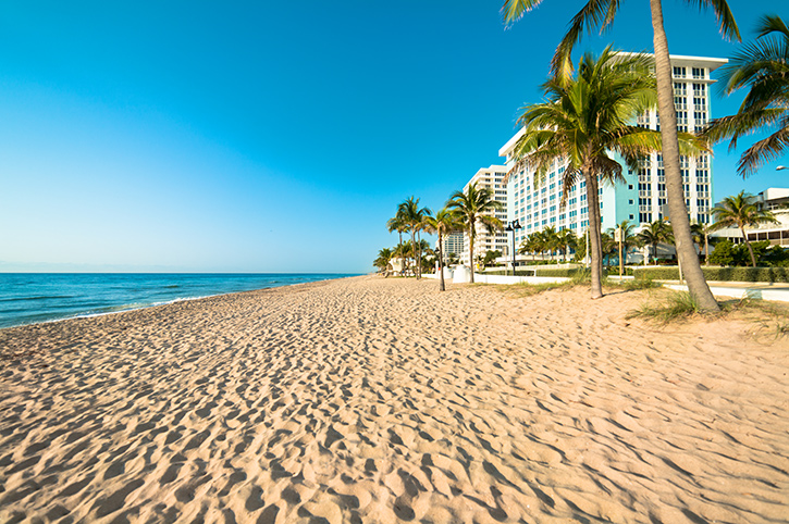 Fort Lauderdale, Florida Beach, South USA