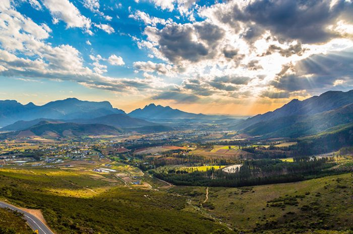 Franschhoek From Above, South Africa