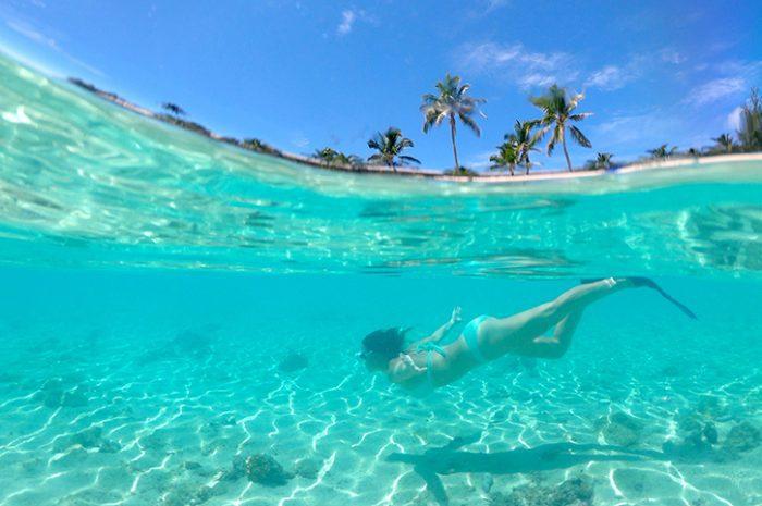 Freediving in Cook Islands