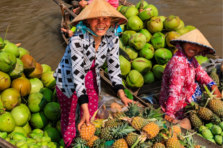 Fruit seller, Mekong Delta