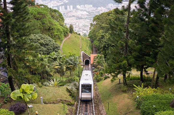 Funicular Train in Penang Hill